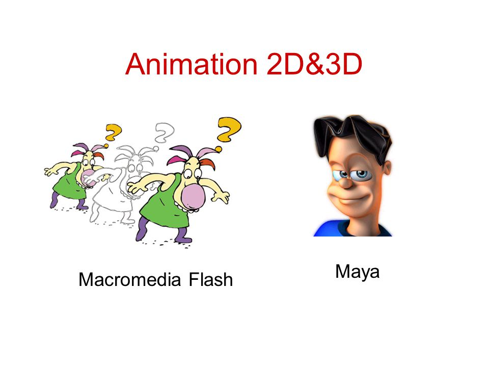 Animation 2D&3D Maya Macromedia Flash