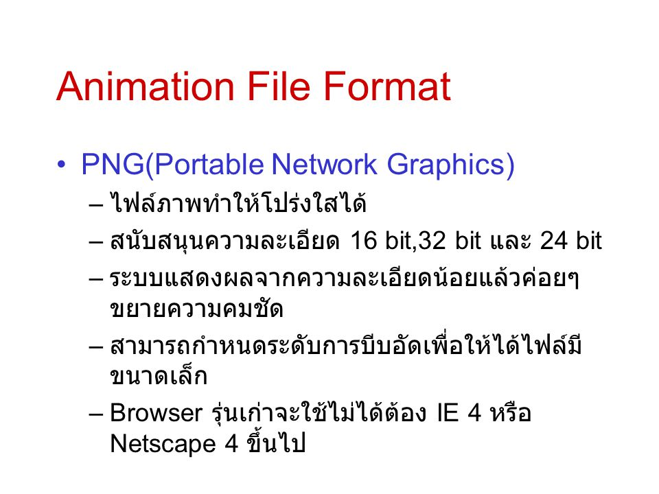 Animation File Format PNG(Portable Network Graphics)