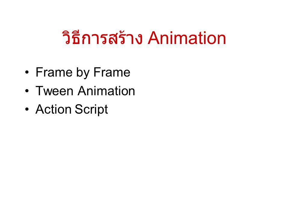 วิธีการสร้าง Animation