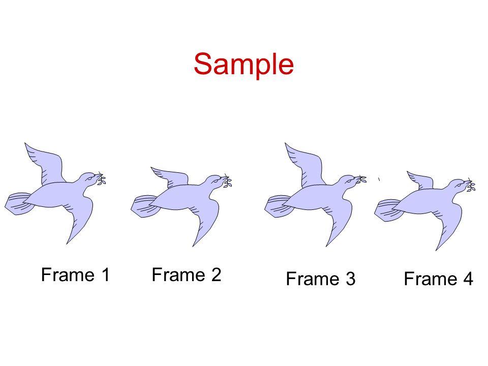 Sample Frame 1 Frame 2 Frame 3 Frame 4