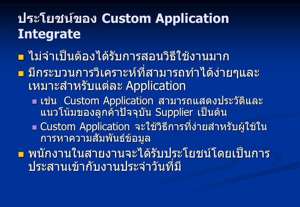 ประโยชน์ของ Custom Application Integrate