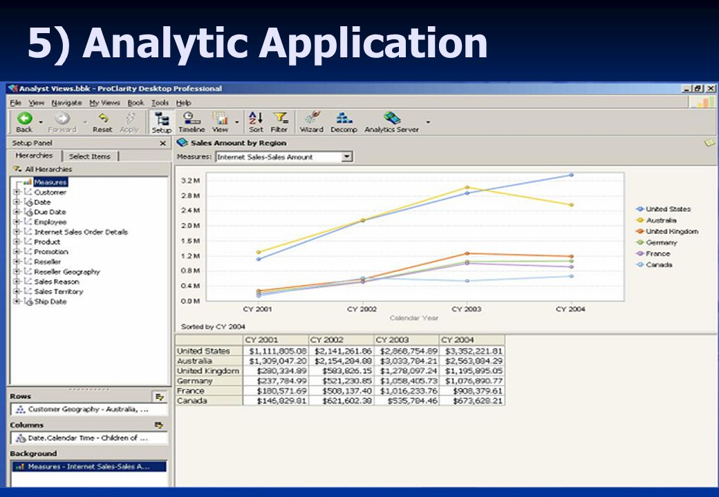 5) Analytic Application