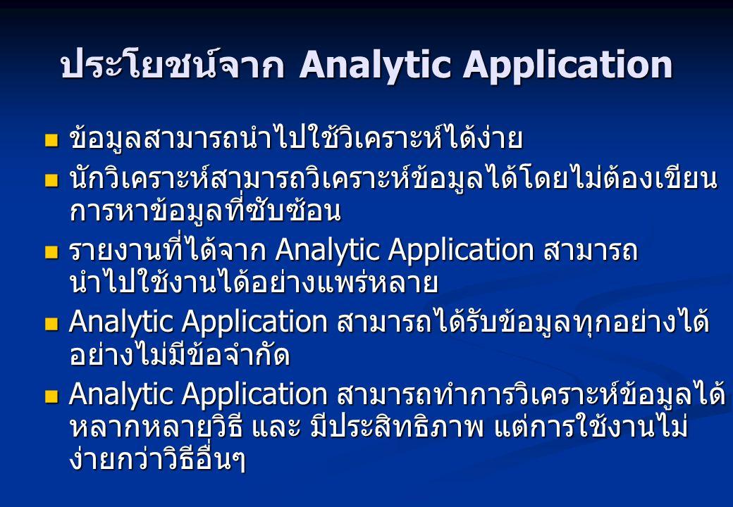 ประโยชน์จาก Analytic Application