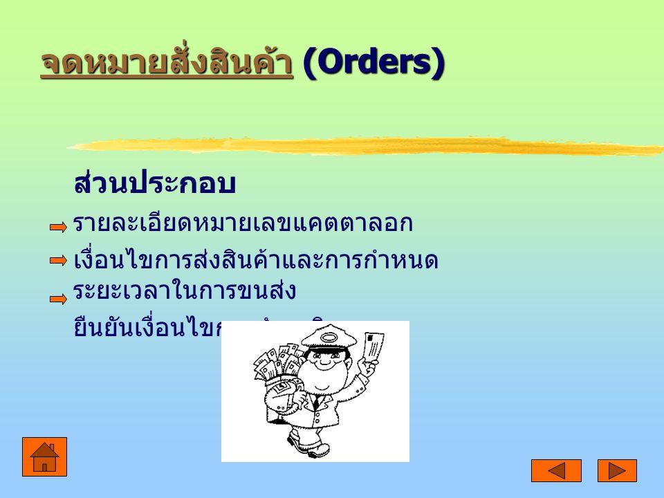 จดหมายสั่งสินค้า (Orders)