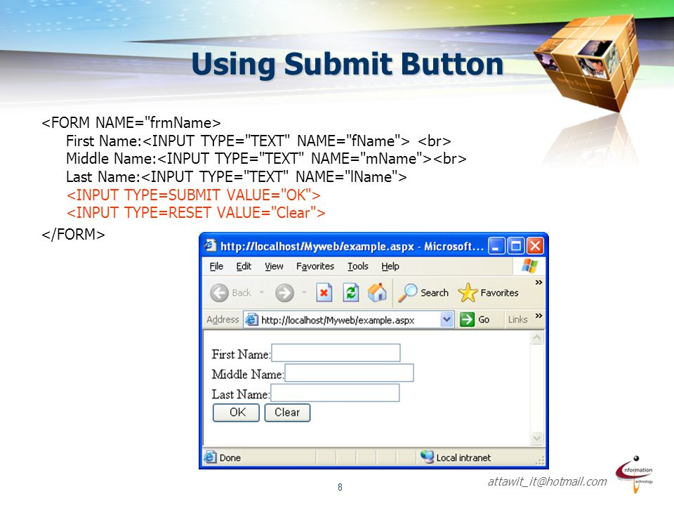 Using Submit Button