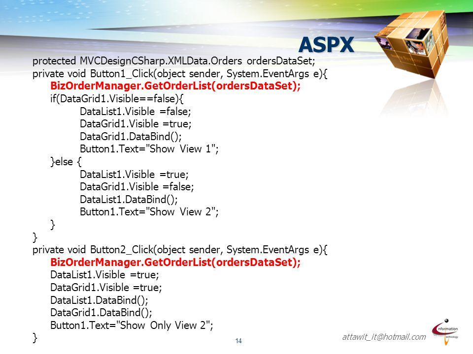 ASPX protected MVCDesignCSharp.XMLData.Orders ordersDataSet;