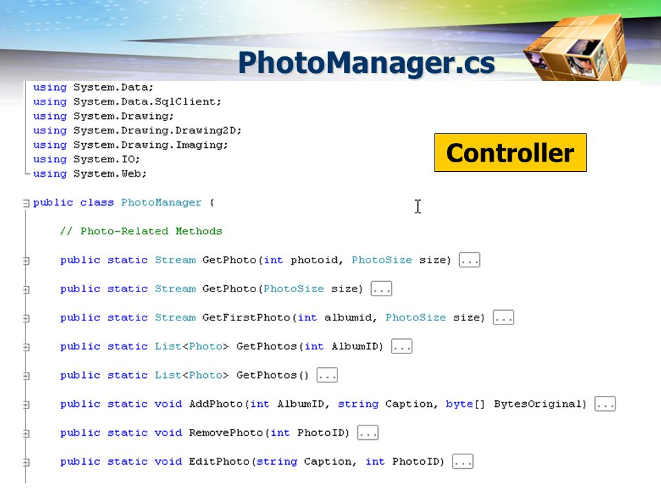 PhotoManager.cs Controller