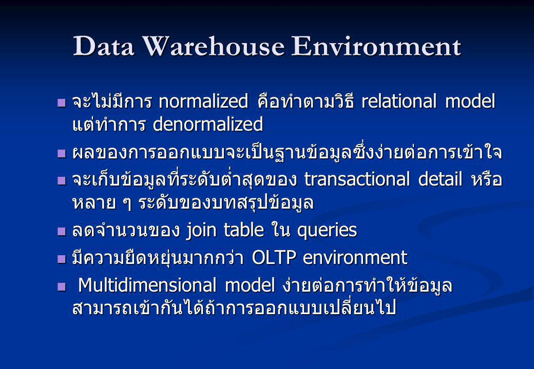 Data Warehouse Environment