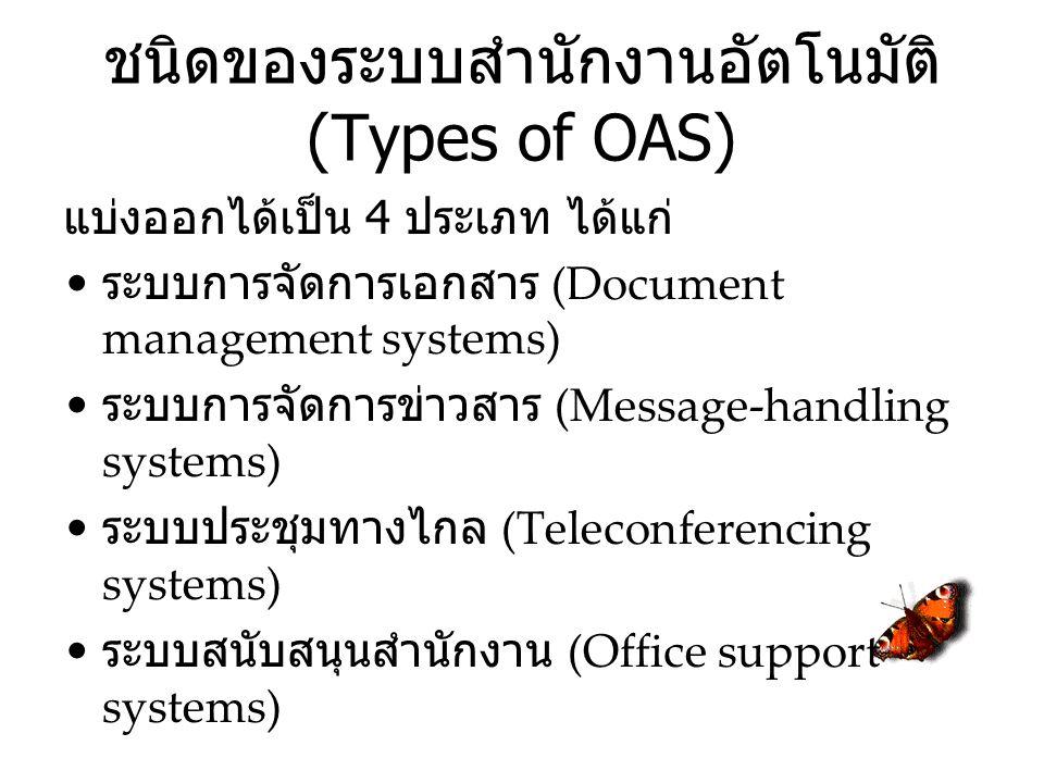 ชนิดของระบบสำนักงานอัตโนมัติ (Types of OAS)
