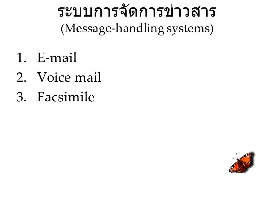 ระบบการจัดการข่าวสาร (Message-handling systems)