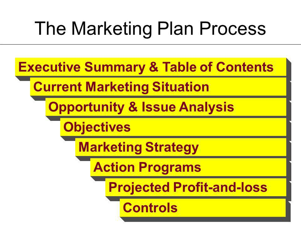 The Marketing Plan Process