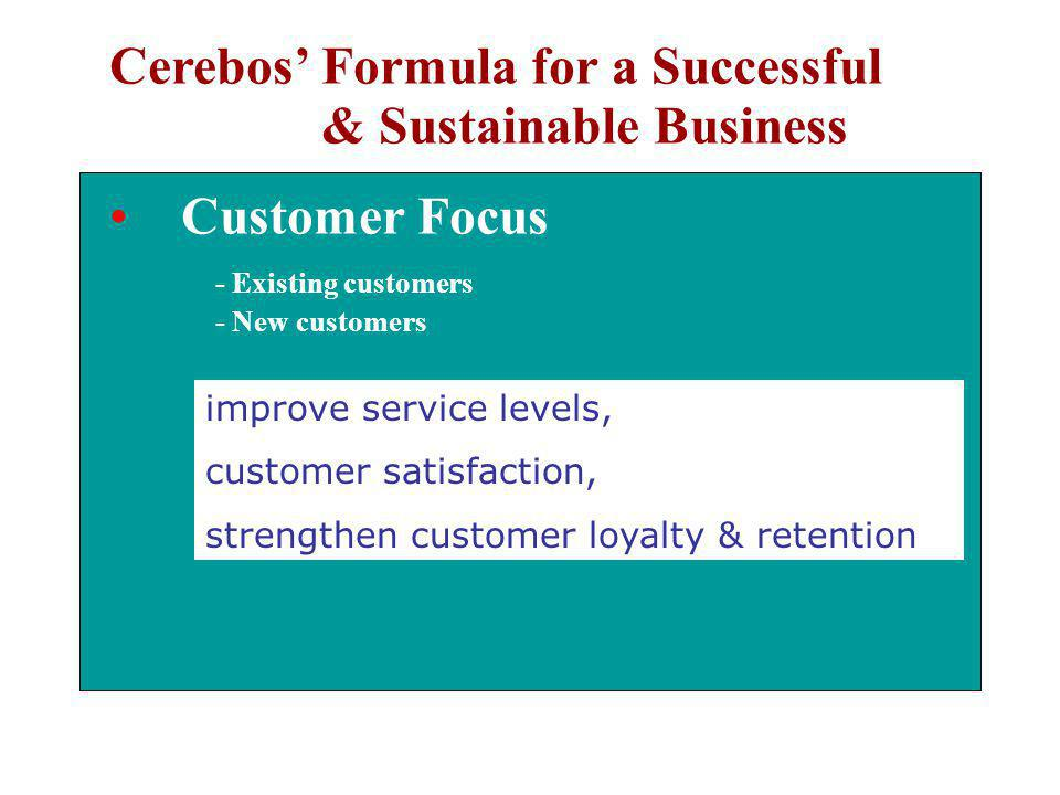 Cerebos' Formula for a Successful & Sustainable Business