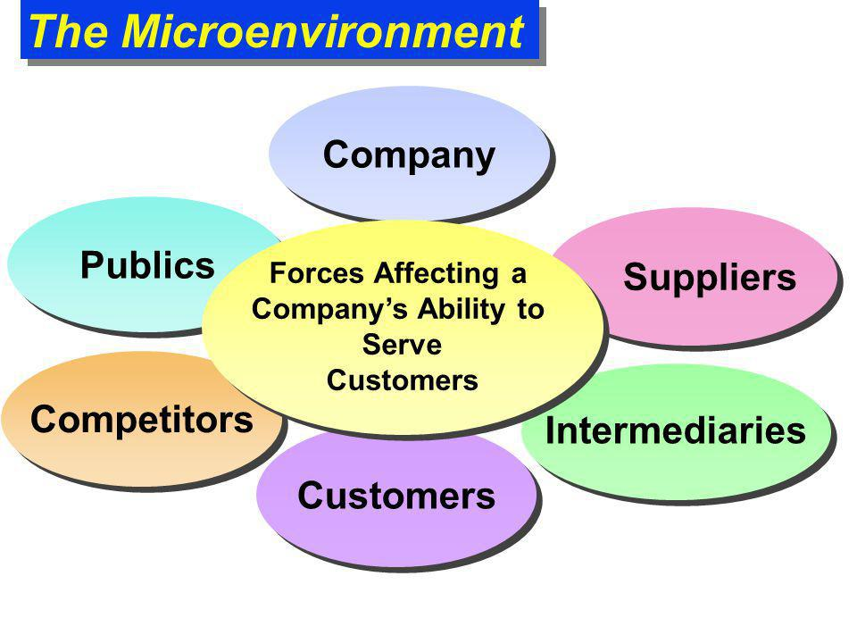 The Microenvironment Company Publics Competitors Intermediaries