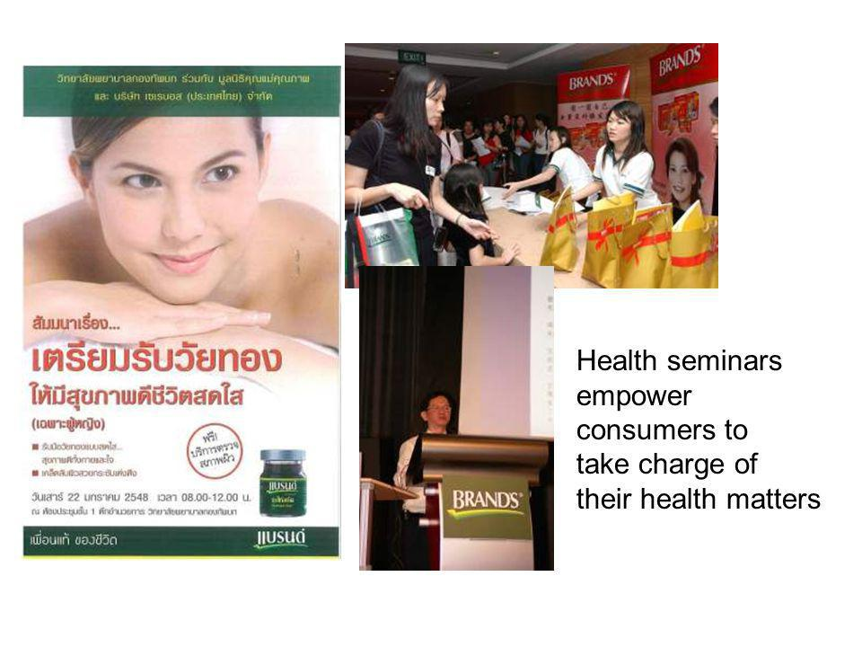 Health seminars empower consumers to take charge of their health matters