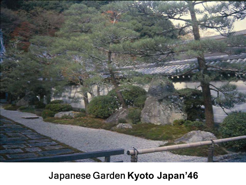 Japanese Garden Kyoto Japan'46