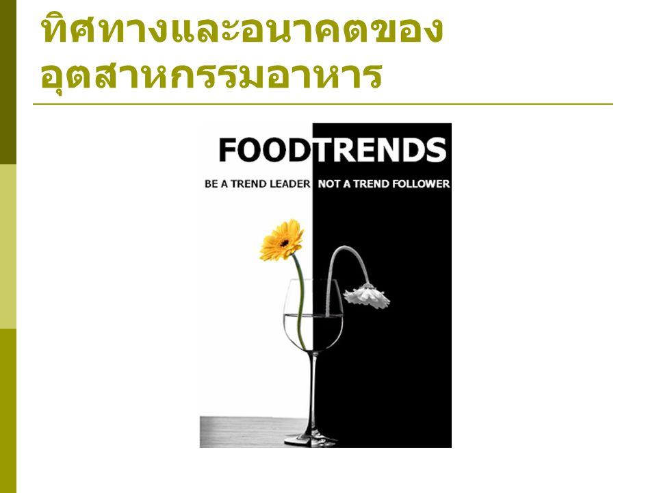 ทิศทางและอนาคตของอุตสาหกรรมอาหาร