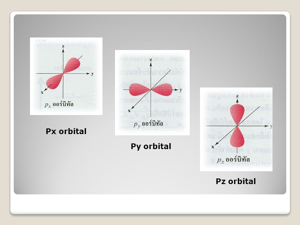 Px orbital Py orbital Pz orbital