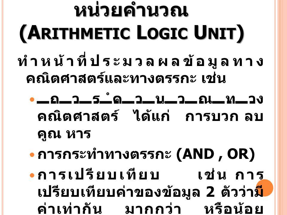 หน่วยคำนวณ (Arithmetic Logic Unit)