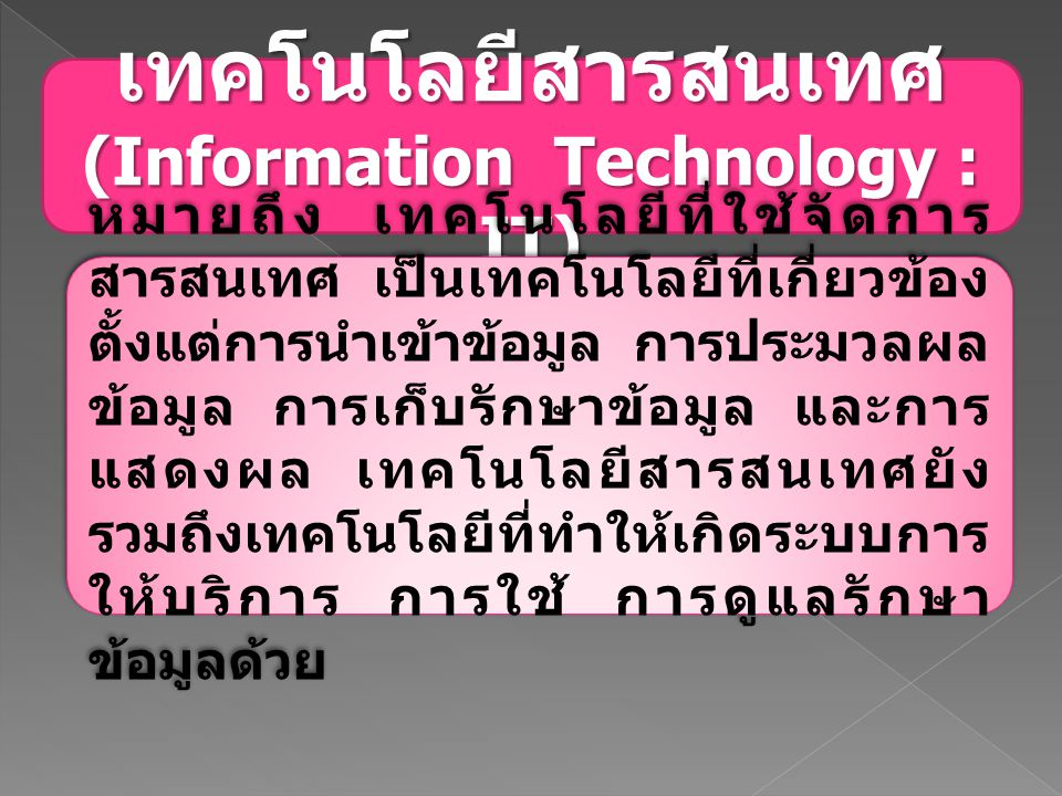 (Information Technology : IT)