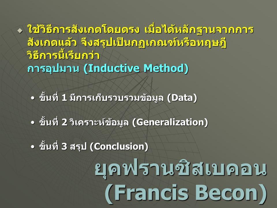 ยุคฟรานซิสเบคอน (Francis Becon)
