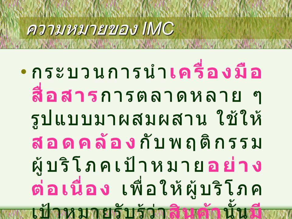 ความหมายของ IMC