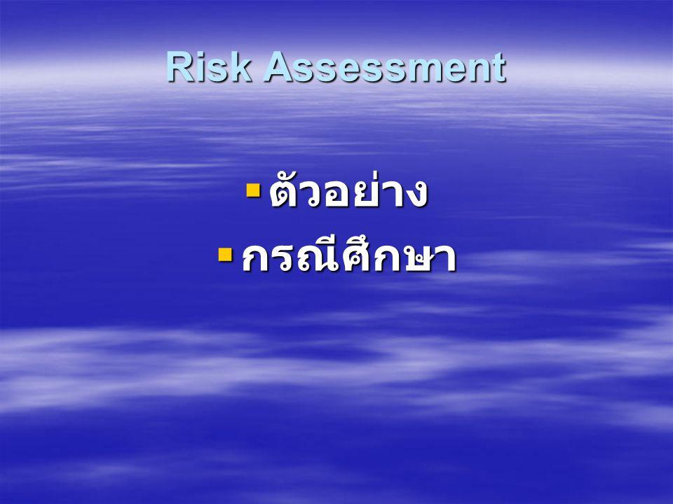 Risk Assessment ตัวอย่าง กรณีศึกษา