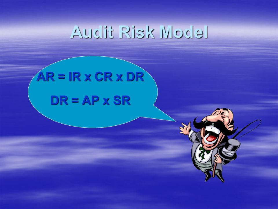 Audit Risk Model AR = IR x CR x DR DR = AP x SR