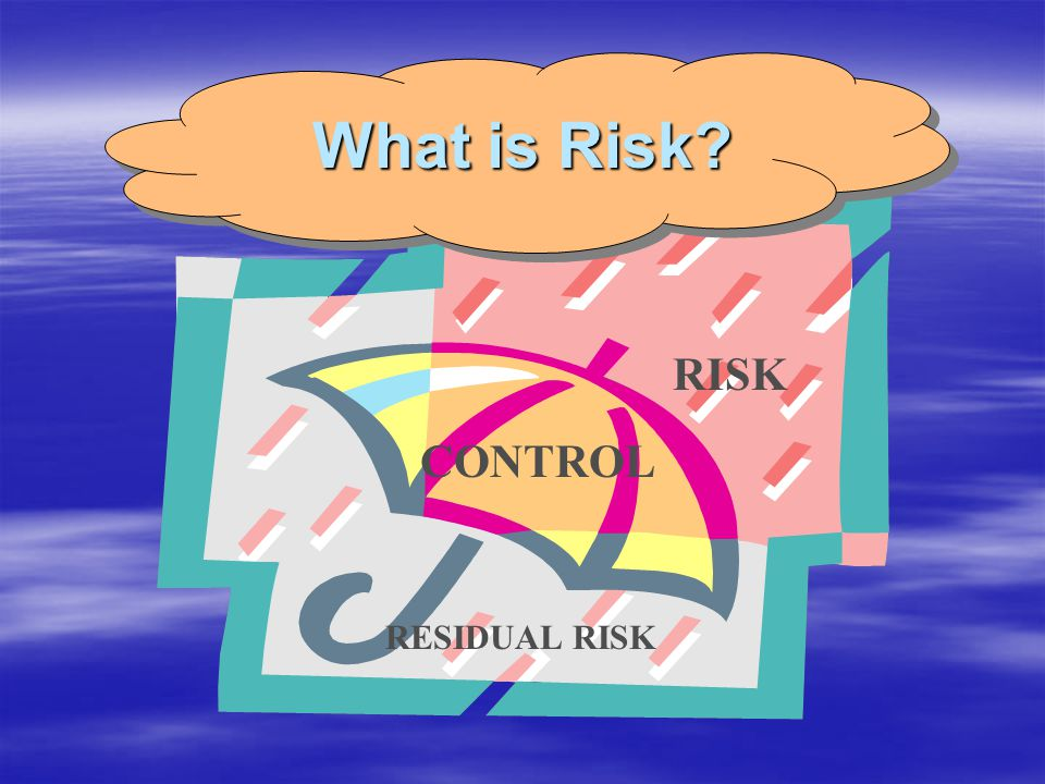 What is Risk RISK CONTROL RESIDUAL RISK
