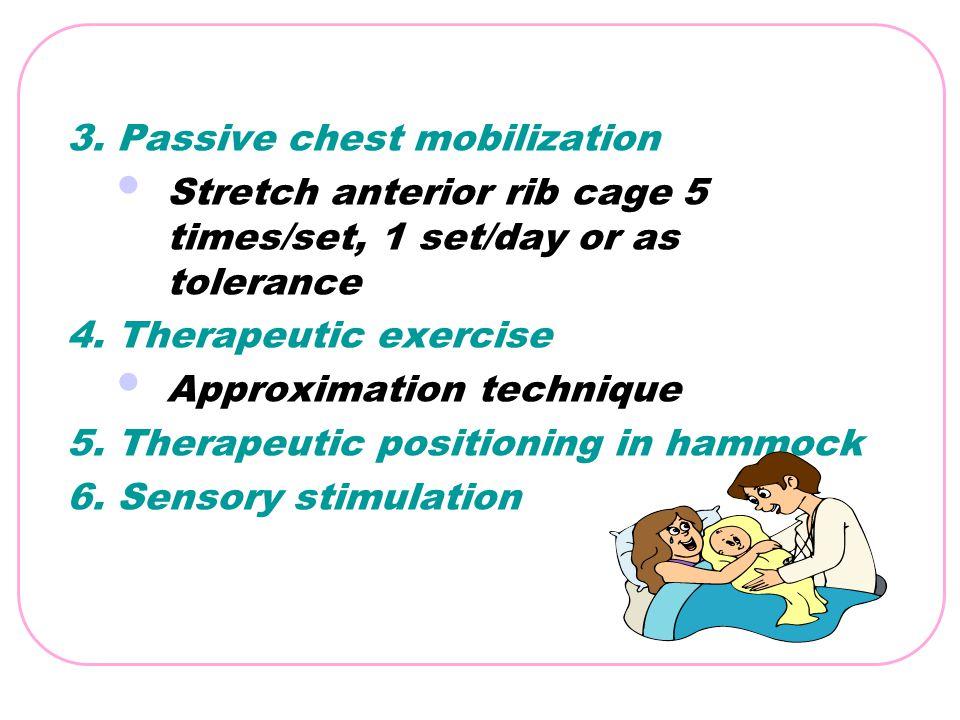 3. Passive chest mobilization