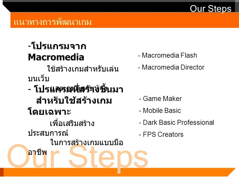 Our Steps Our Steps แนวทางการพัฒนาเกม
