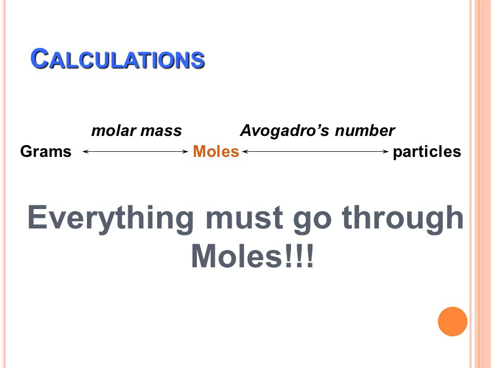 Everything must go through Moles!!!