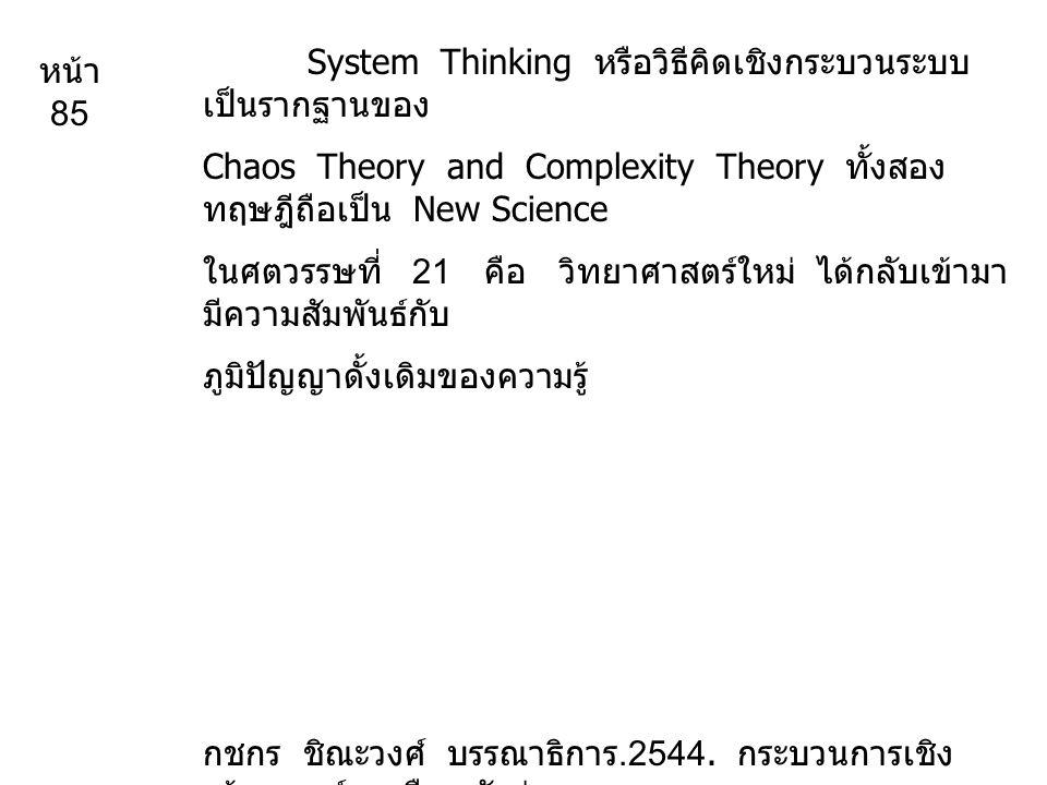 System Thinking หรือวิธีคิดเชิงกระบวนระบบเป็นรากฐานของ