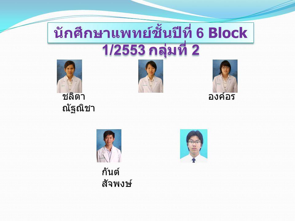 นักศึกษาแพทย์ชั้นปีที่ 6 Block 1/2553 กลุ่มที่ 2