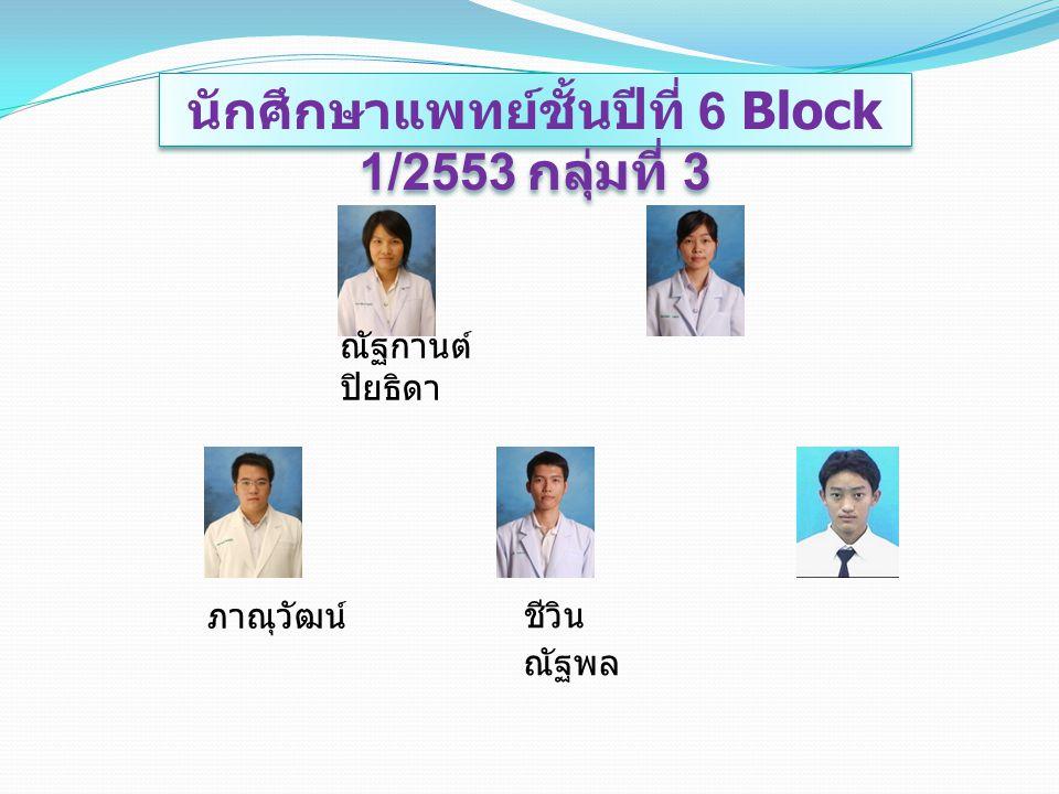 นักศึกษาแพทย์ชั้นปีที่ 6 Block 1/2553 กลุ่มที่ 3