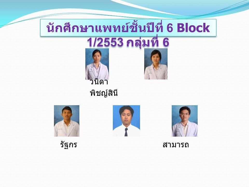 นักศึกษาแพทย์ชั้นปีที่ 6 Block 1/2553 กลุ่มที่ 6