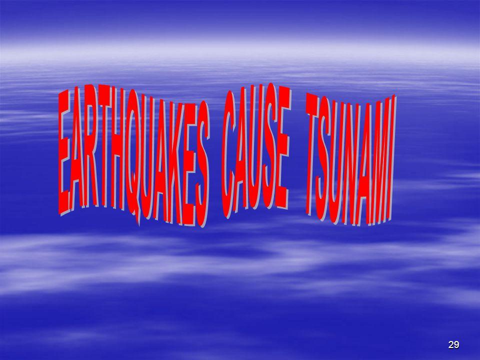 EARTHQUAKES CAUSE TSUNAMI
