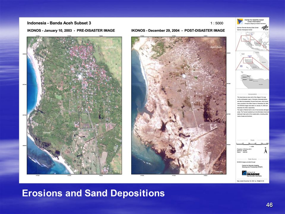 Erosions and Sand Depositions