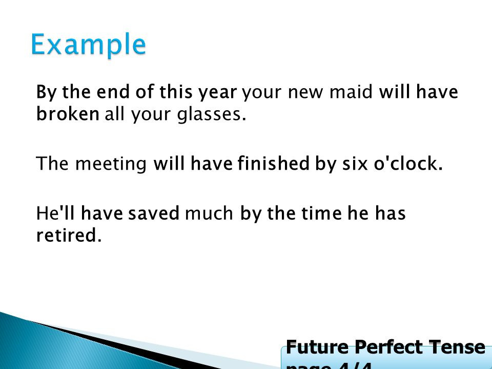 Example Future Perfect Tense page 4/4