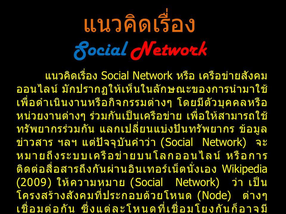 แนวคิดเรื่อง Social Network