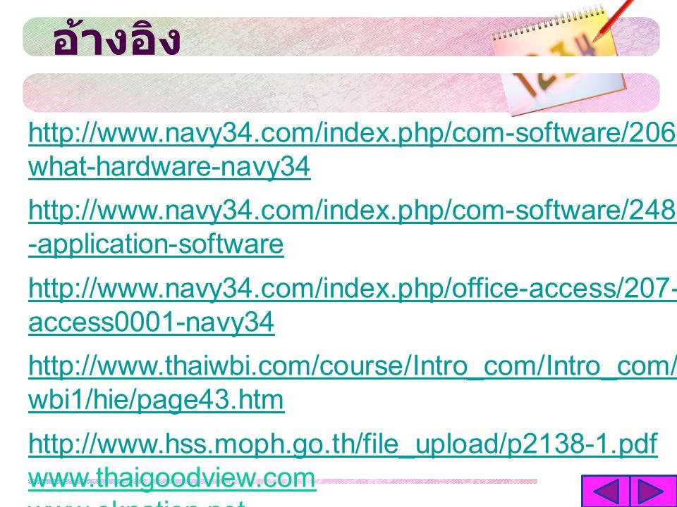 อ้างอิง http://www.navy34.com/index.php/com-software/206-what-hardware-navy34.