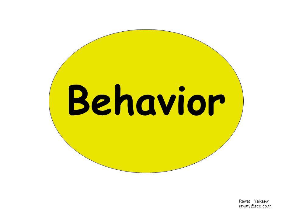 Behavior Rawat Yaikaew rawaty@scg.co.th