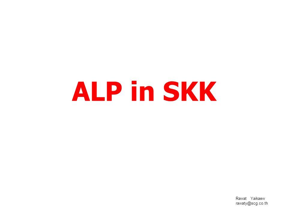 ALP in SKK Rawat Yaikaew rawaty@scg.co.th