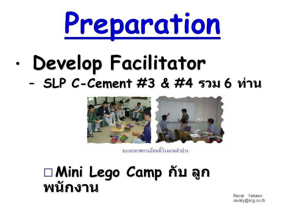 Preparation Develop Facilitator Mini Lego Camp กับ ลูกพนักงาน
