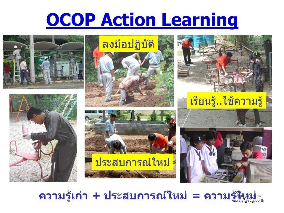 OCOP Action Learning ลงมือปฏิบัติ เรียนรู้..ใช้ความรู้ ประสบการณ์ใหม่