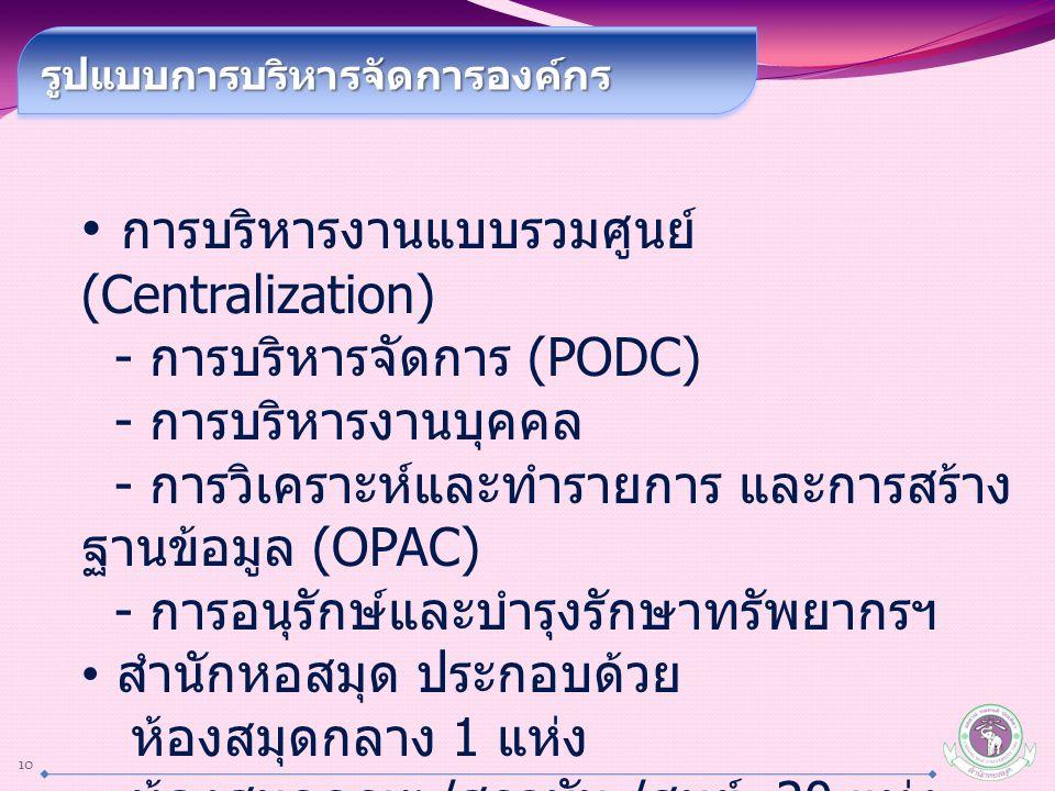 การบริหารงานแบบรวมศูนย์(Centralization)