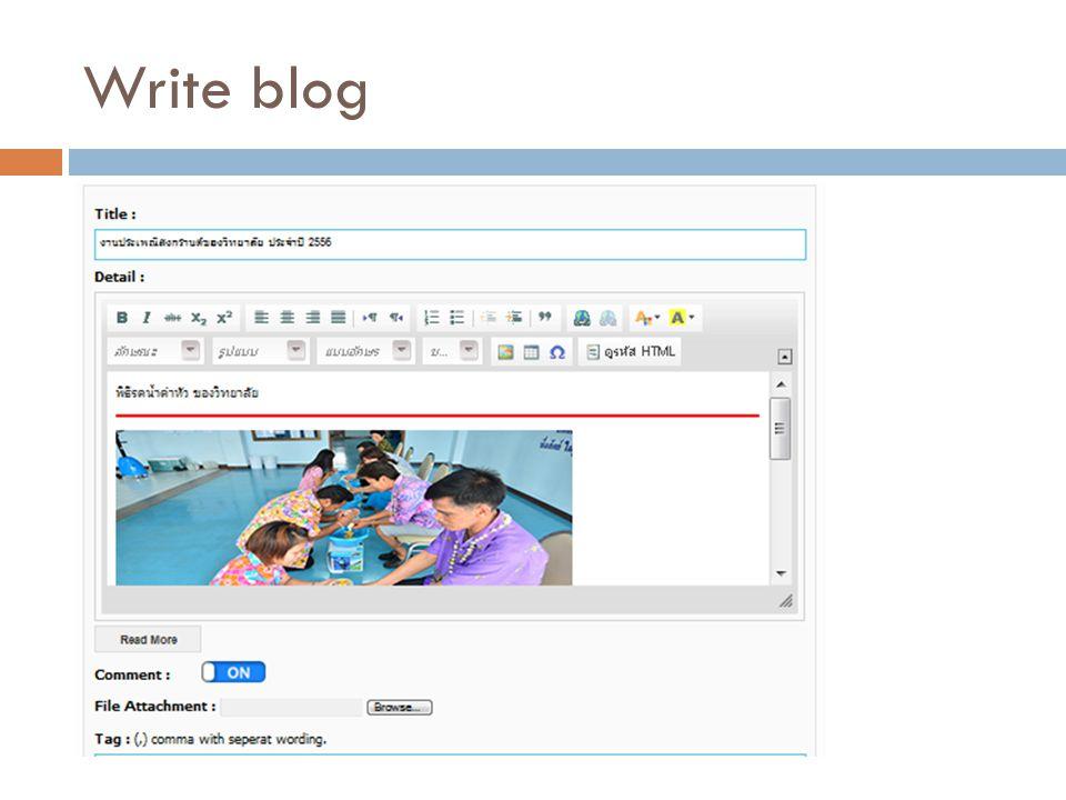 Write blog