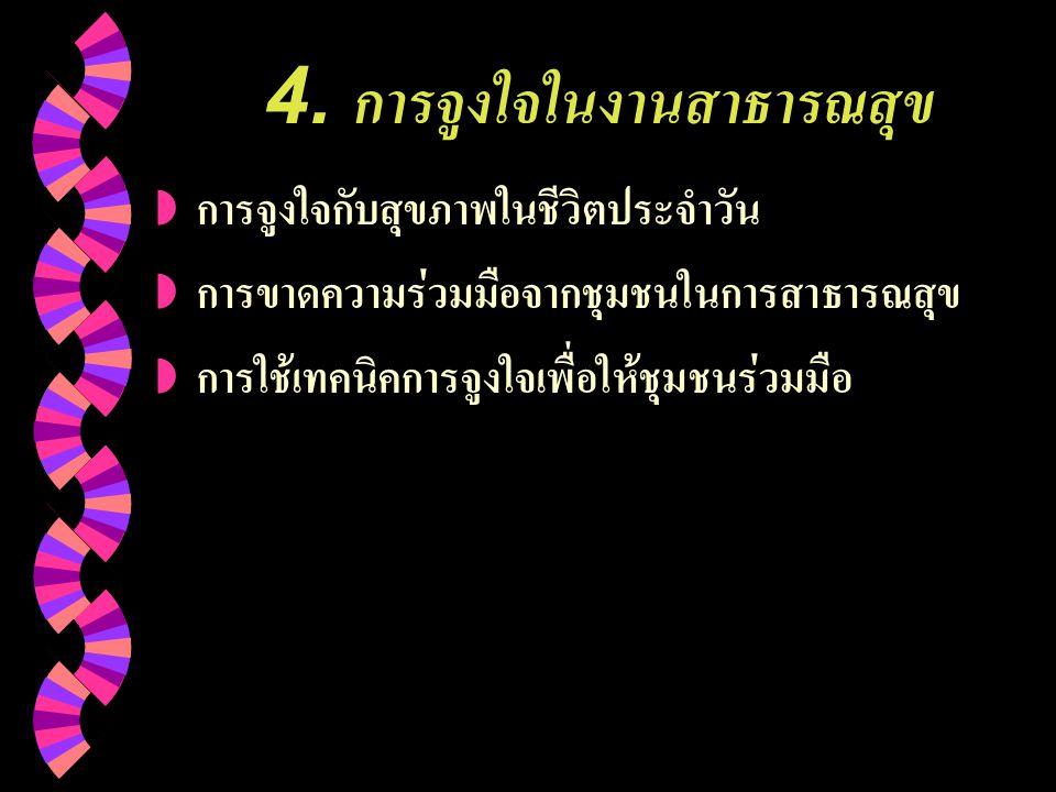 4. การจูงใจในงานสาธารณสุข