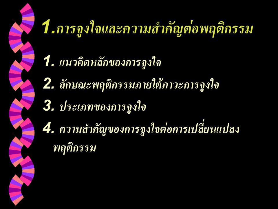 1.การจูงใจและความสำคัญต่อพฤติกรรม