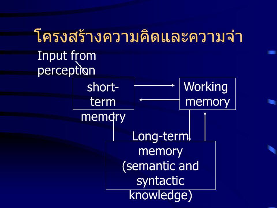 โครงสร้างความคิดและความจำ