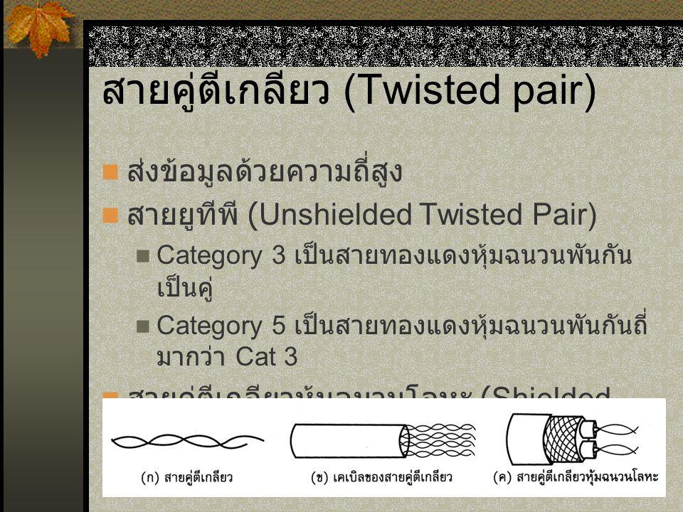 สายคู่ตีเกลียว (Twisted pair)